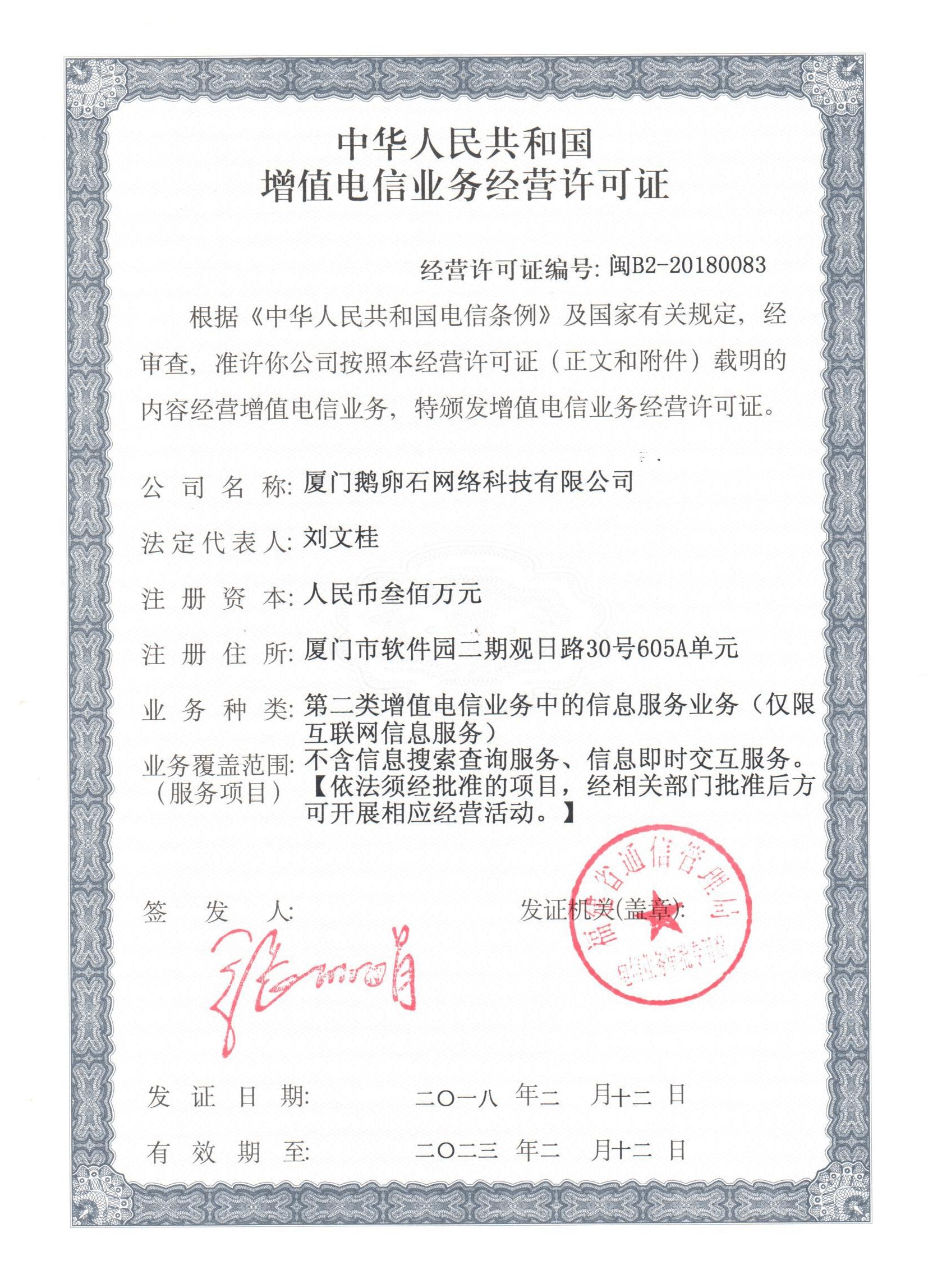 ICP证闽B2-20180083